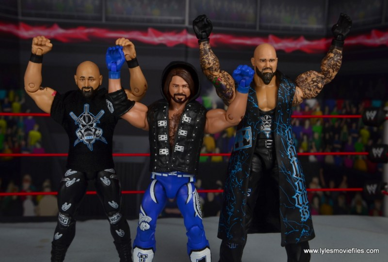 wwe elite 56 aj styles figure review - throwing up two sweet with the bullet club