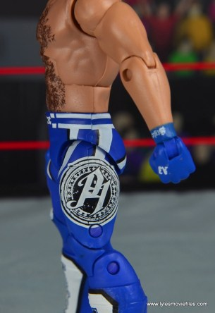 wwe elite 56 aj styles figure review - tights left side detail