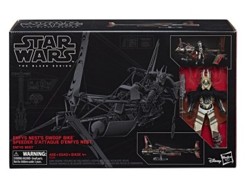 STAR WARS THE BLACK SERIES DELUXE ENFYS NEST'S SWOOP BIKE VEHICLE (in pkg)