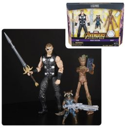 avengers infinity war marvel legends thor, groot and rocket pack