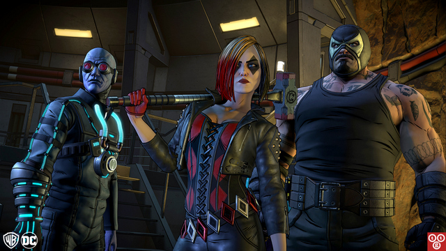 batman the enemy within - mister freeze, harley quinn and bane