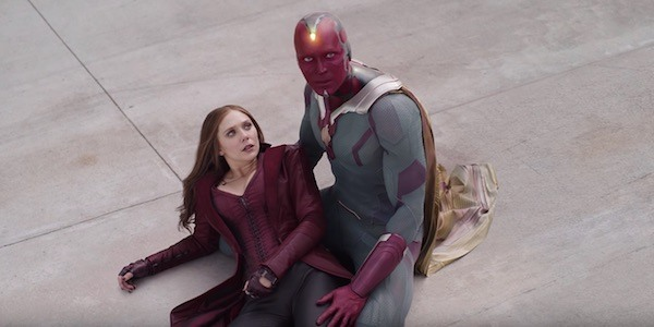 captain america civil war scarlet witch and vision