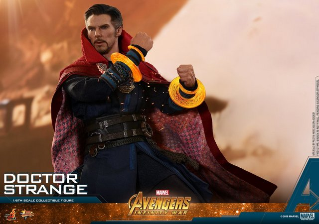 hot toys avengers infinity war doctor strange figure -glowing bands