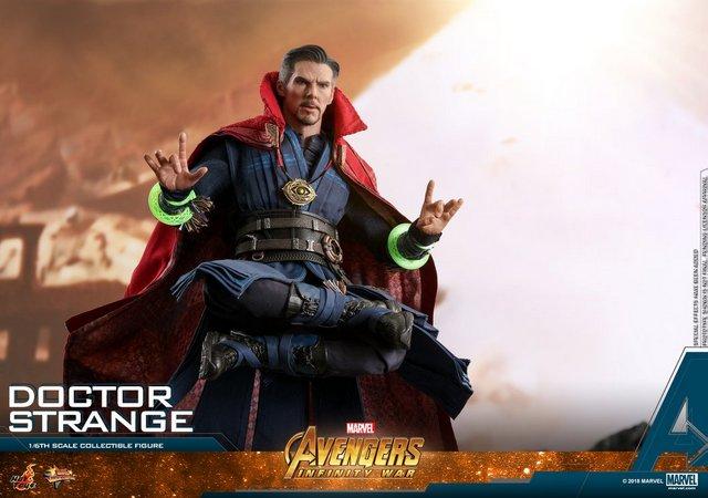 hot toys avengers infinity war doctor strange figure -levitating