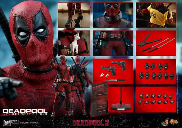hot toys deadpool 2 figure -collage