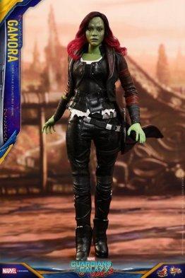 hot toys guardians of the gamora vol. 2 gamora figure - walking