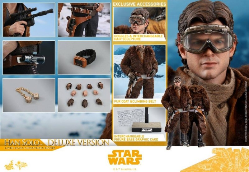 hot toys solo a star wars story han solo figure -collage