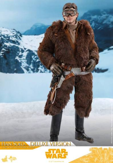 hot toys solo a star wars story han solo figure - with parka