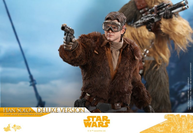 hot toys solo a star wars story han solo figure -with winter gear