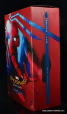 hot toys spider-man homecoming figure review - package front to side