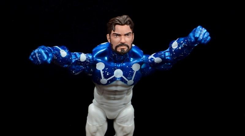 marvel legends cosmic spider-man figure review - flying off