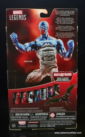 marvel legends cosmic spider-man figure review -package rear