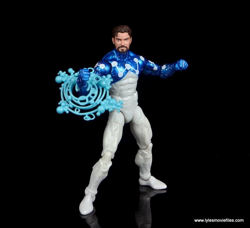 marvel legends cosmic spider-man figure review - peter parker with power blast