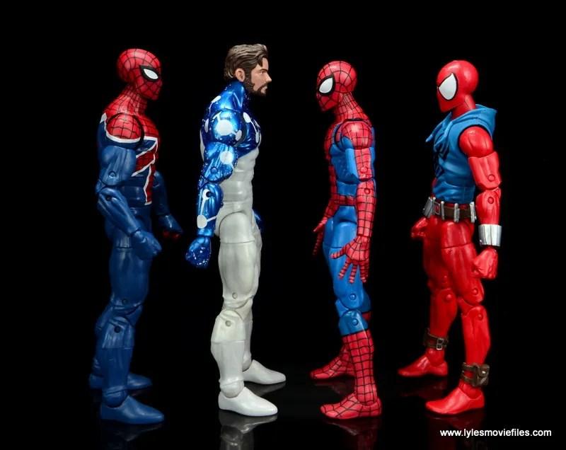 marvel legends cosmic spider-man figure review -scale with spider-man uk, spider-man and scarlet spider