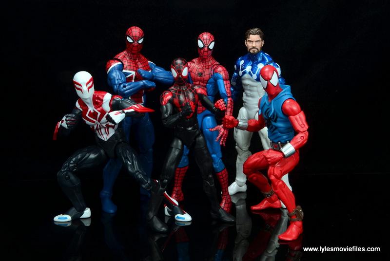 marvel legends cosmic spider-man figure review -spider-verse crew