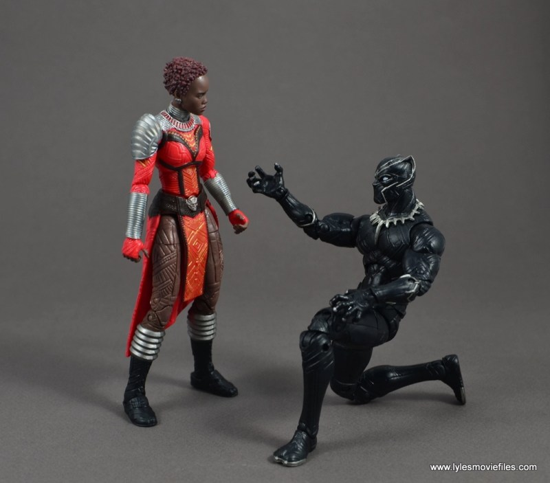 marvel legends nakia figure review - black panther courting