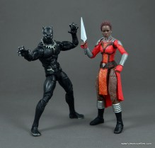 marvel legends nakia figure review - with black panther