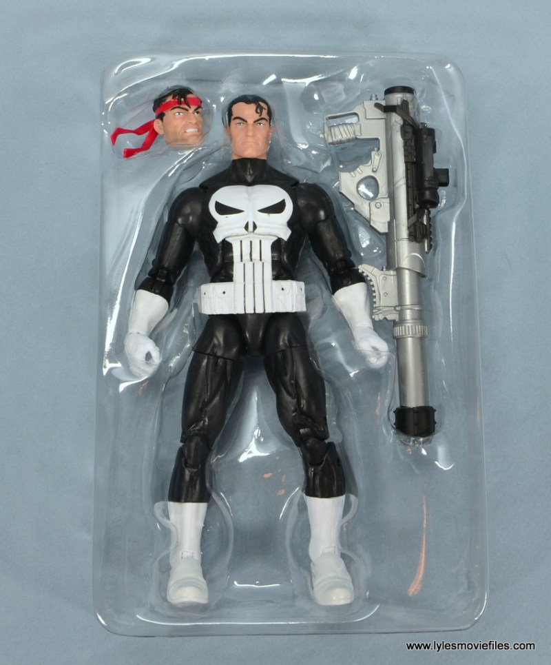 marvel legends the punisher retro figure review - in tray