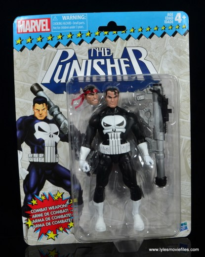 marvel legends the punisher retro figure review - package front