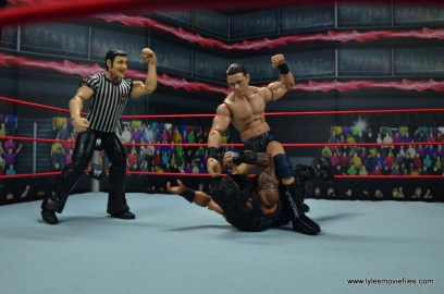 wwe elite 53 the miz figure review - mounted punches on roman reigns