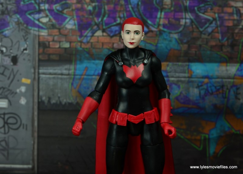 dc multiverse batwoman figure review - alternate head sculpt