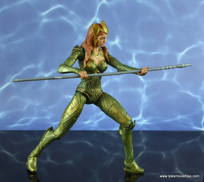 dc multiverse mera figure review - jabbing spear