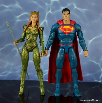 dc multiverse mera figure review - scale with dc rebirth superman