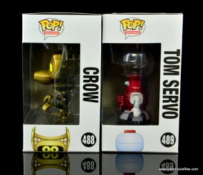 funko pop crow t. robot and tom servo figure review - package left side