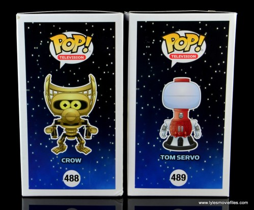 funko pop crow t. robot and tom servo figure review - package right side