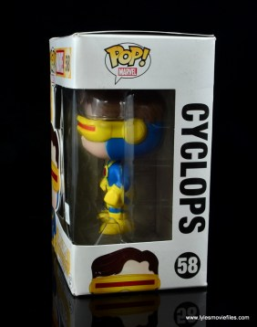 funko pop cyclops figure review - package side left