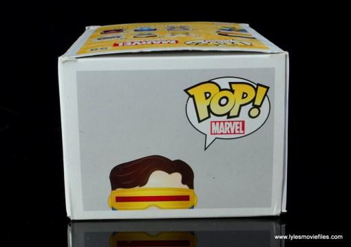 funko pop cyclops figure review - package top