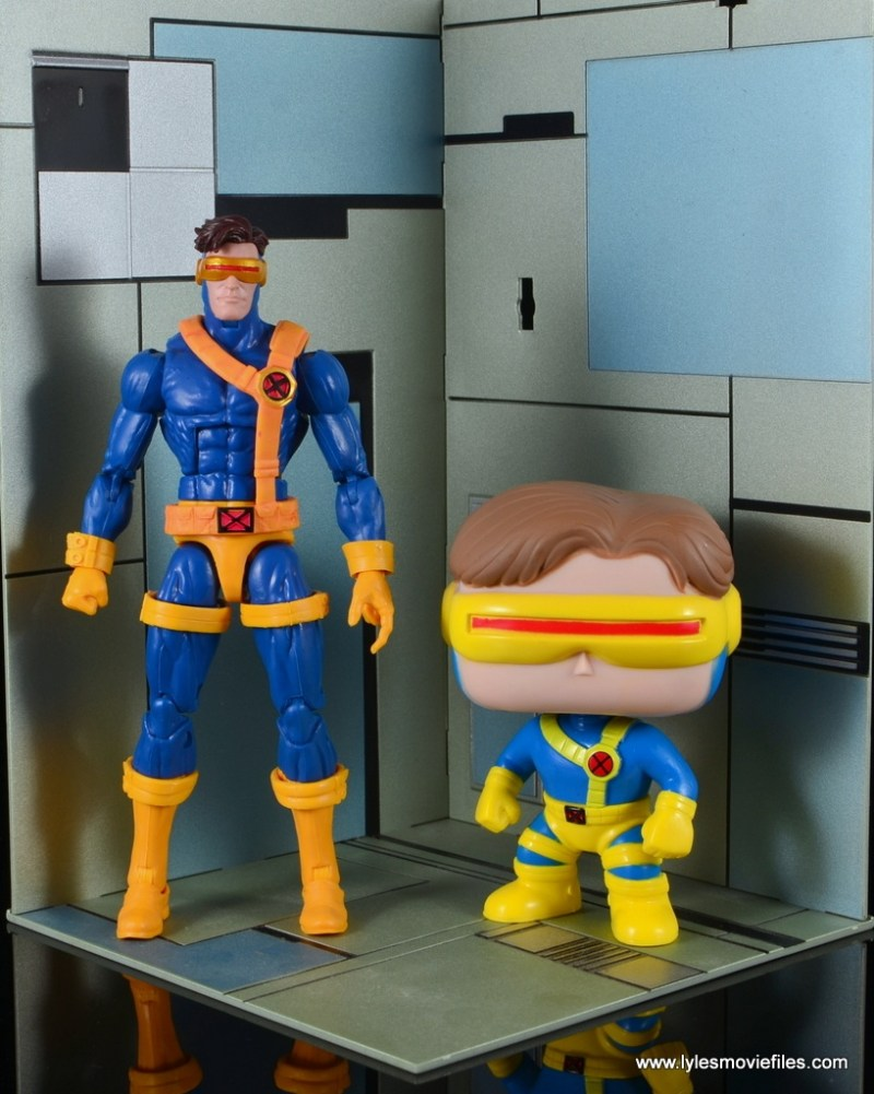 funko pop cyclops figure review - with marvel legends cyclops