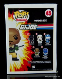 funko pop gi joe roadblock figure review -package rear