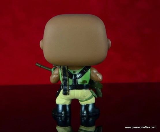 funko pop gi joe roadblock figure review - rear