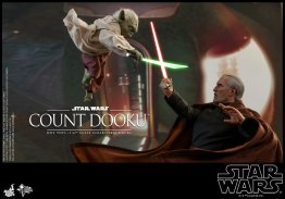 hot toys attack of the clones count dooku figure -vs yoda