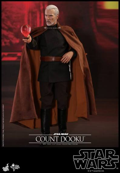 hot toys attack of the clones count dooku figure -with death star hologram