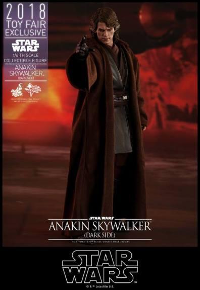 hot toys dark side anakin skywalker figure -choking padme