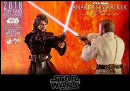 hot toys dark side anakin skywalker figure -clash of lightsabers