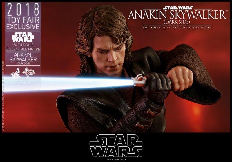 hot toys dark side anakin skywalker figure -close up with lightsaber