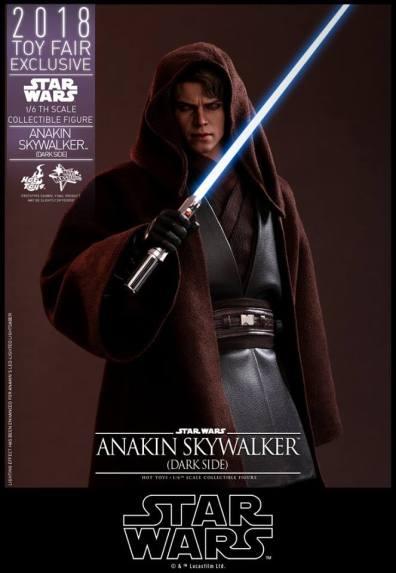 hot toys dark side anakin skywalker figure -hood up