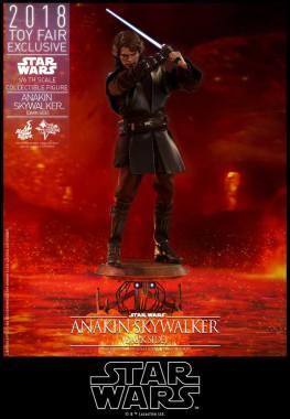 hot toys dark side anakin skywalker figure -lightsaber up