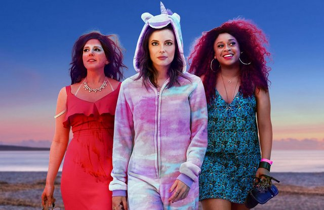 ibiza movie review -vanessa beyer, gillian jacobs and phoebe robinson