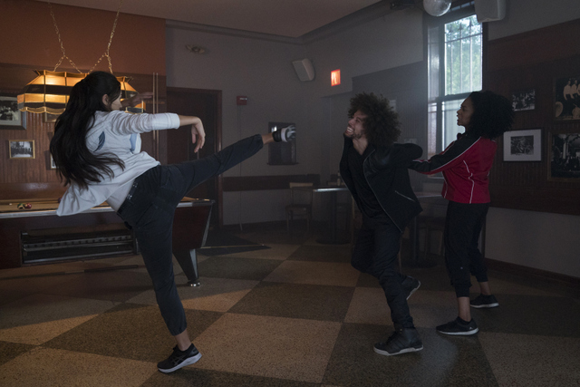 luke cage wig out - colleen and misty