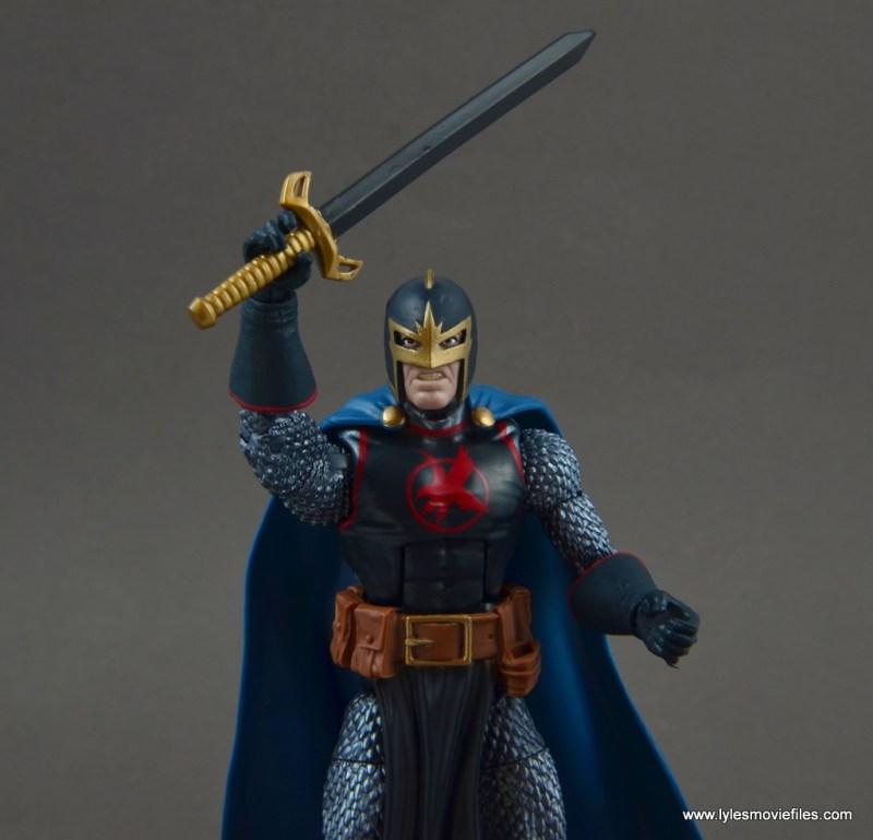 marvel legends black knight figure review -classic helmet
