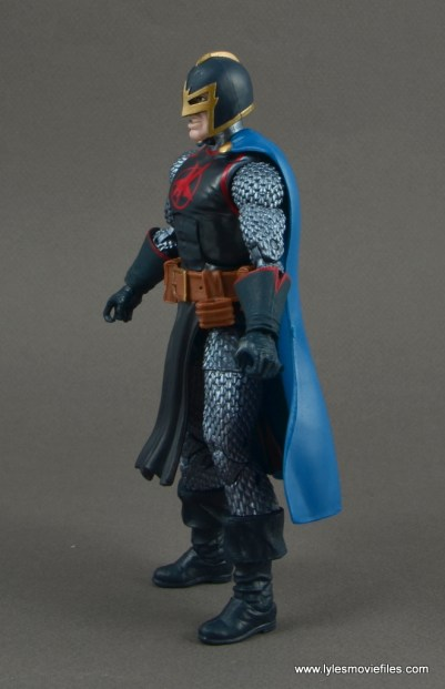 marvel legends black knight figure review -left side