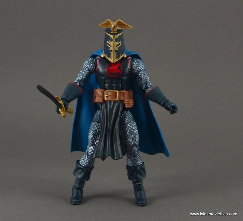 marvel legends black knight figure review - sir percival helmet