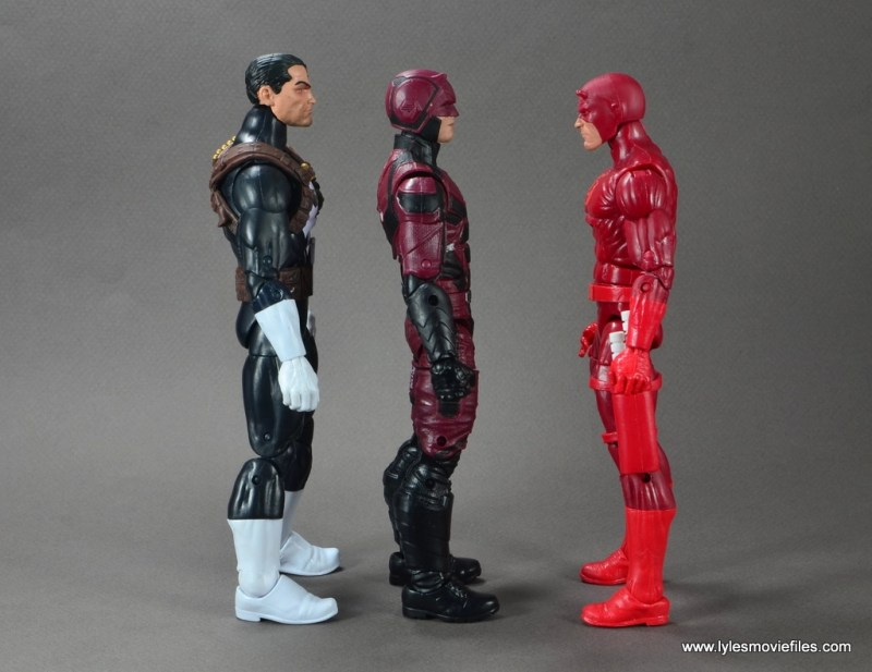 marvel legends netflix daredevil figure review -scale with punisher and daredevil