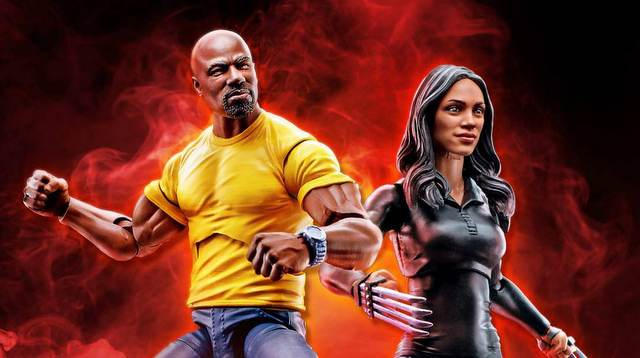 marvel legends netflix luke cage and claire temple