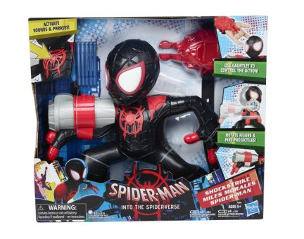 MARVEL SPIDER-MAN INTO THE SPIDER-VERSE SHOCK STRIKE MILES MORALES SPIDER-MAN Figure - in pkg