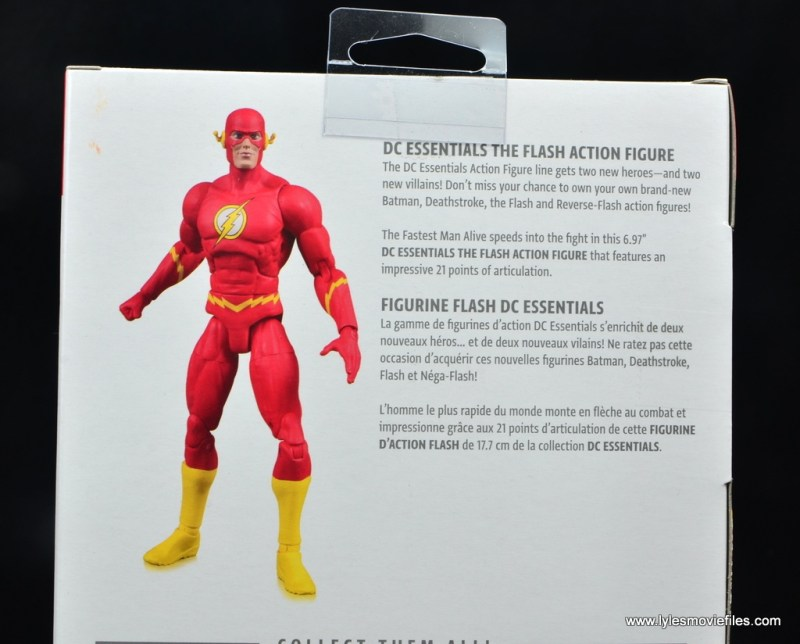 dc essentials the flash figure review - package bio